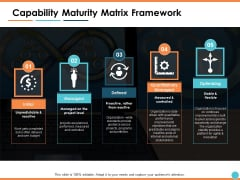 Capability Maturity Matrix Framework Ppt PowerPoint Presentation Professional Outfit