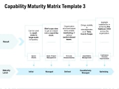 Capability Maturity Matrix Initial Ppt PowerPoint Presentation Summary Influencers