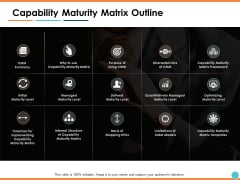 Capability Maturity Matrix Outline Ppt PowerPoint Presentation Gallery Inspiration