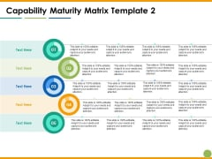 Capability Maturity Matrix Ppt PowerPoint Presentation Ideas Topics