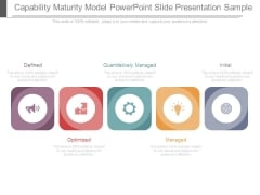 Capability Maturity Model Powerpoint Slide Presentation Sample
