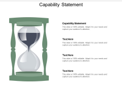 Capability Statement Ppt PowerPoint Presentation Summary Styles Cpb