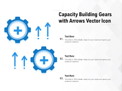 Capacity Building Gears With Arrows Vector Icon Ppt Inspiration Infographic Template PDF