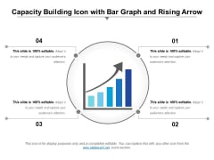 Capacity Building Icon With Bar Graph And Rising Arrow Ppt PowerPoint Presentation Icon Topics PDF