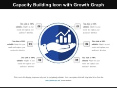 Capacity Building Icon With Growth Graph Ppt PowerPoint Presentation Gallery Shapes PDF