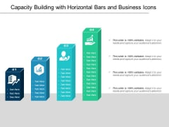 Capacity Building With Horizontal Bars And Business Icons Ppt PowerPoint Presentation Summary Introduction PDF