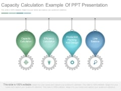 Capacity Calculation Example Of Ppt Presentation