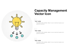 Capacity Management Vector Icon Ppt Powerpoint Presentation Microsoft