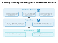 Capacity Planning And Management With Optimal Solution Ppt PowerPoint Presentation Professional Rules PDF
