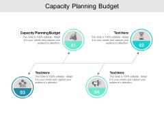 Capacity Planning Budget Ppt PowerPoint Presentation Portfolio Clipart Cpb