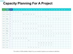 Capacity Planning For A Project Ppt PowerPoint Presentation Examples