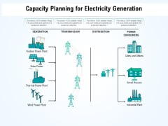 Capacity Planning For Electricity Generation Ppt PowerPoint Presentation Show Professional PDF