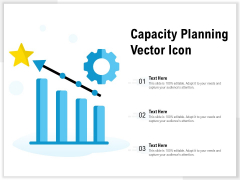 Capacity Planning Vector Icon Ppt Pictures Ideas PDF