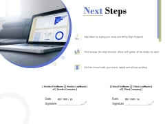 Capex Proposal Template Next Steps Ppt Show Brochure PDF