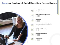 Capex Proposal Template Terms And Condition Of Capital Expenditure Proposal Cont Infographics PDF
