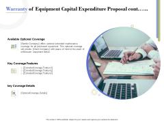 Capex Proposal Template Warranty Of Equipment Capital Expenditure Proposal Cont Topics PDF