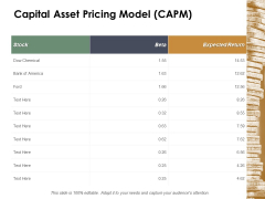 Capital Asset Pricing Model Capm Ppt Powerpoint Presentation Infographic Template Example 2015