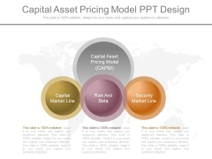 Capital Asset Pricing Model Ppt Design