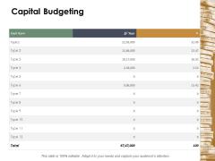 Capital Budgeting Marketing Ppt Powerpoint Presentation Portfolio Clipart Images