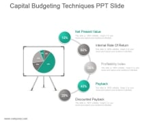 Capital Budgeting Techniques Ppt Slide