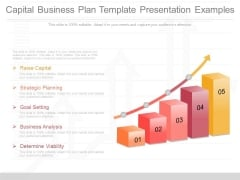 Capital Business Plan Template Presentation Examples