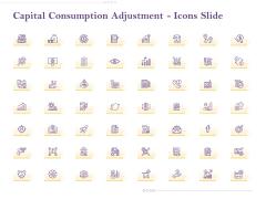 Capital Consumption Adjustment Icons Slide Pictures PDF