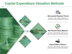 Capital Expenditure Valuation Methods Ppt PowerPoint Presentation File Background Images