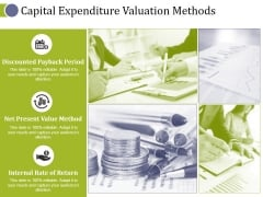 Capital Expenditure Valuation Methods Ppt PowerPoint Presentation Professional Icons