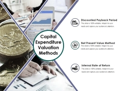Capital Expenditure Valuation Methods Ppt PowerPoint Presentation Slides Grid