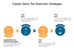 Capital Gains Tax Reduction Strategies Ppt PowerPoint Presentation Icon Designs Download Cpb