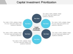 Capital Investment Prioritization Ppt PowerPoint Presentation File Background Image Cpb