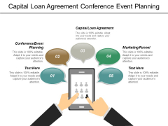 Capital Loan Agreement Conference Event Planning Marketing Funnel Ppt PowerPoint Presentation Model Microsoft