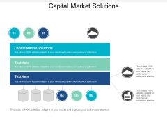 Capital Market Solutions Ppt PowerPoint Presentation Outline Pictures Cpb