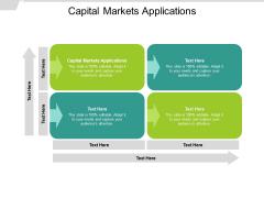 Capital Markets Applications Ppt PowerPoint Presentation Portfolio Model Cpb