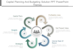 Capital Planning And Budgeting Solution Ppt Powerpoint Themes