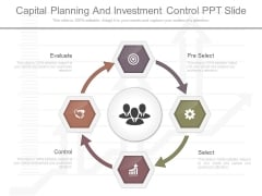 Capital Planning And Investment Control Ppt Slide