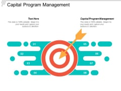 Capital Program Management Ppt PowerPoint Presentation Gallery Deck Cpb