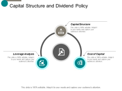 capital structure and dividend policy ppt powerpoint presentation icon graphics
