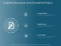Capital Structure And Dividend Policy Ppt Powerpoint Presentation Icon Visual Aids
