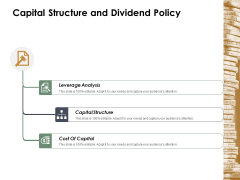 Capital Structure And Dividend Policy Ppt Powerpoint Presentation Ideas Portrait