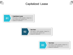 Capitalized Lease Ppt PowerPoint Presentation Ideas Graphics Template Cpb
