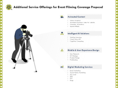 Capture Business Events Additional Service Offerings For Event Filming Coverage Proposal Ppt Gallery Designs PDF