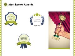 Capture Business Events Most Recent Awards Ppt Slides Information PDF