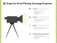 Capture Business Events Scope For Event Filming Coverage Proposal Ppt Gallery Design Templates PDF