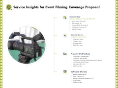 Capture Business Events Service Insights For Event Filming Coverage Proposal Ppt Show Model PDF