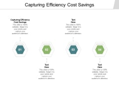 Capturing Efficiency Cost Savings Ppt PowerPoint Presentation Portfolio Example Introduction Cpb Pdf