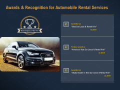 Car Hiring Awards And Recognition For Automobile Rental Services Ppt Portfolio Visuals PDF