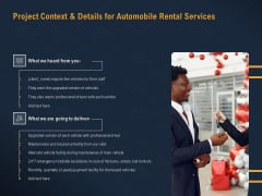 Car Hiring Project Context And Details For Automobile Rental Services Ppt Inspiration Smartart PDF