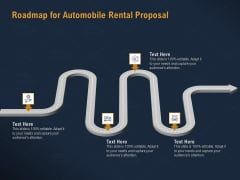 Car Hiring Roadmap For Automobile Rental Proposal Ppt Infographic Template Example PDF