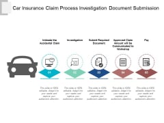 Car Insurance Claim Process Investigation Document Submission Ppt Powerpoint Presentation Portfolio Guide